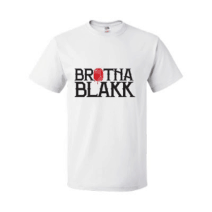 Men's White Brotha Blakk Name Tee